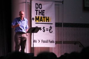 "Bill McKibben during his ""Do the Math"" tour"
