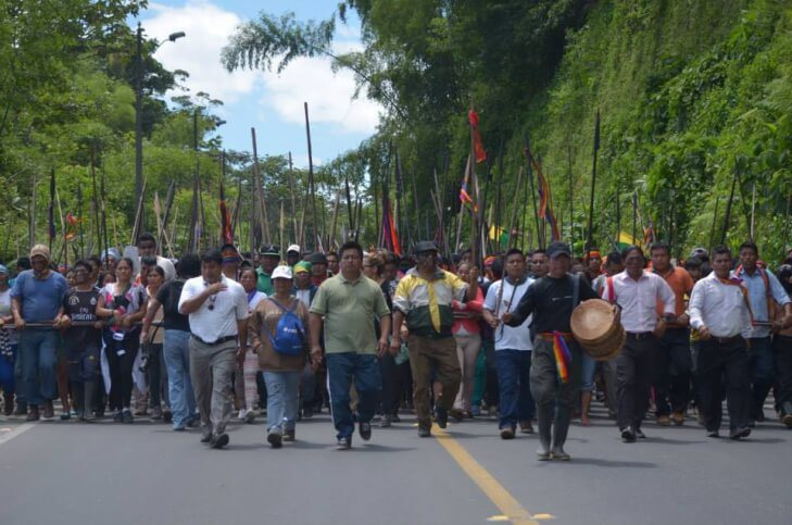 The Ecuador indigenous people's uprising, August 2015. Source: IC Magazine.