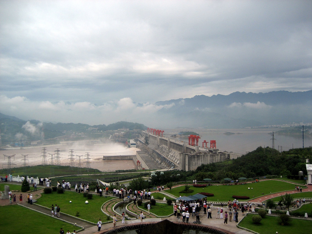 The Three Gorges Dam in China, the largest dam in the world. Source: Flickr