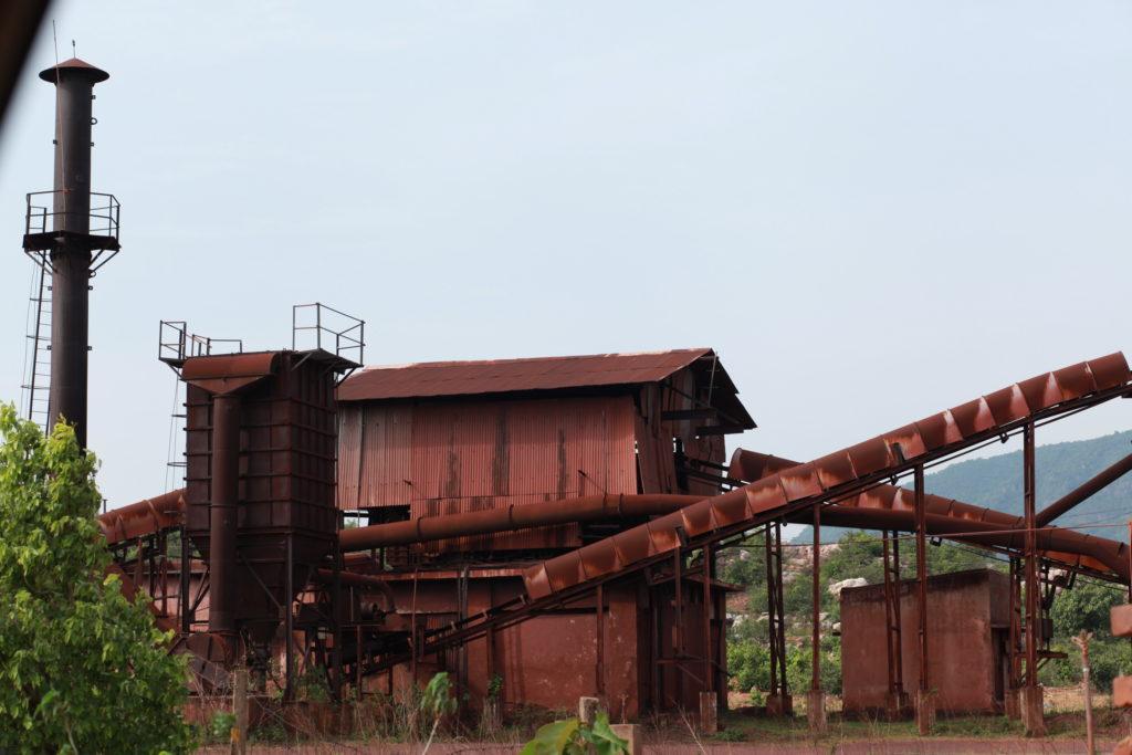 A stone crusher used for crushing large blocks of talc in Madarangajodi. Photo:Indrajeet Rajkhowa